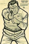 """Sihouette Target: Bad Guy 23""""x35"""" (100 pcs)"""