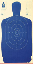 "Sihouette Target: Police Silhouette Blue 24""x45"" (100 pcs)"