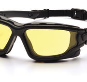I-Force - Black Frame - Amber, Anti-fog lens